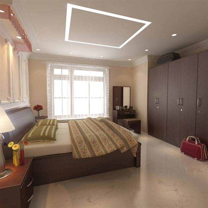 Bedroom by S.R. Buildtech – The Gharexperts