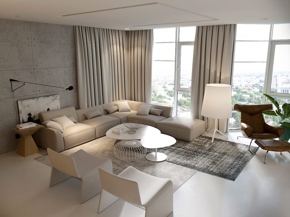 Living room by AShel, Minimalist Wood Wood effect