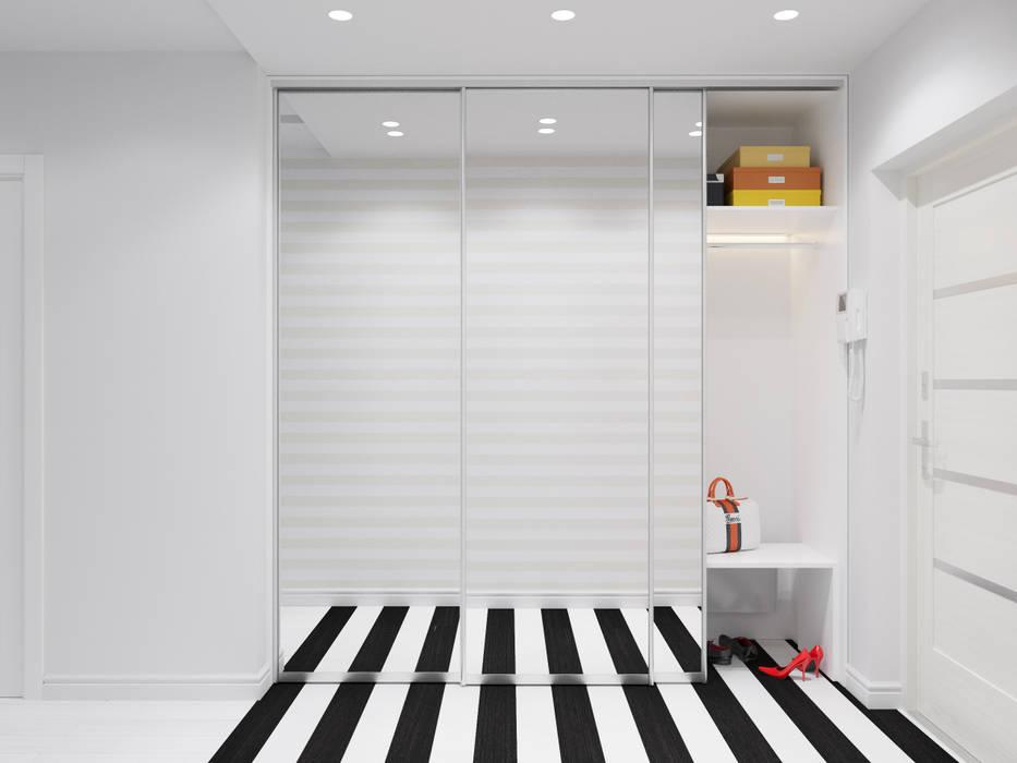 Квартира двухкомнатная: Коридор и прихожая в . Автор – Оксана Мухина, Эклектичный
