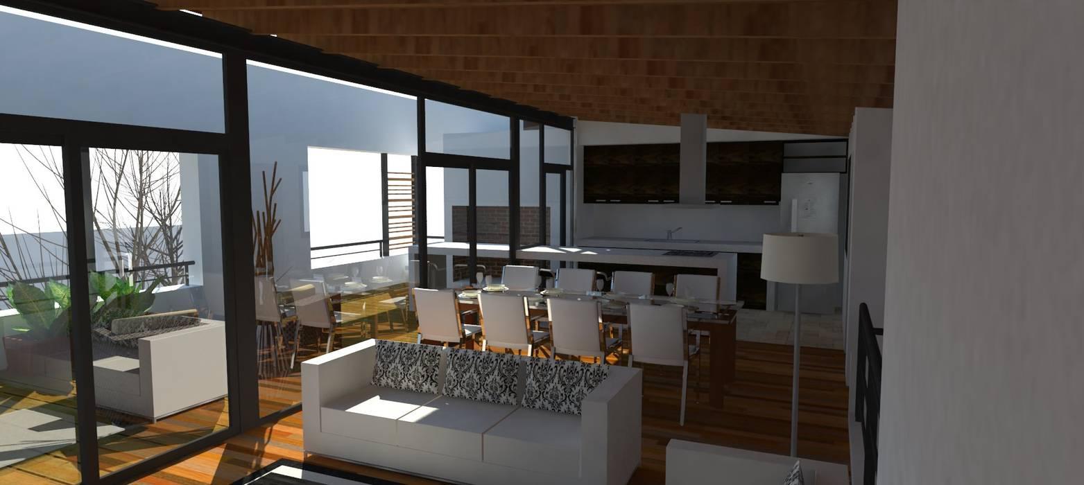 Salon social: Comedores de estilo  por UFV 72 Arquitectura Integral,Moderno