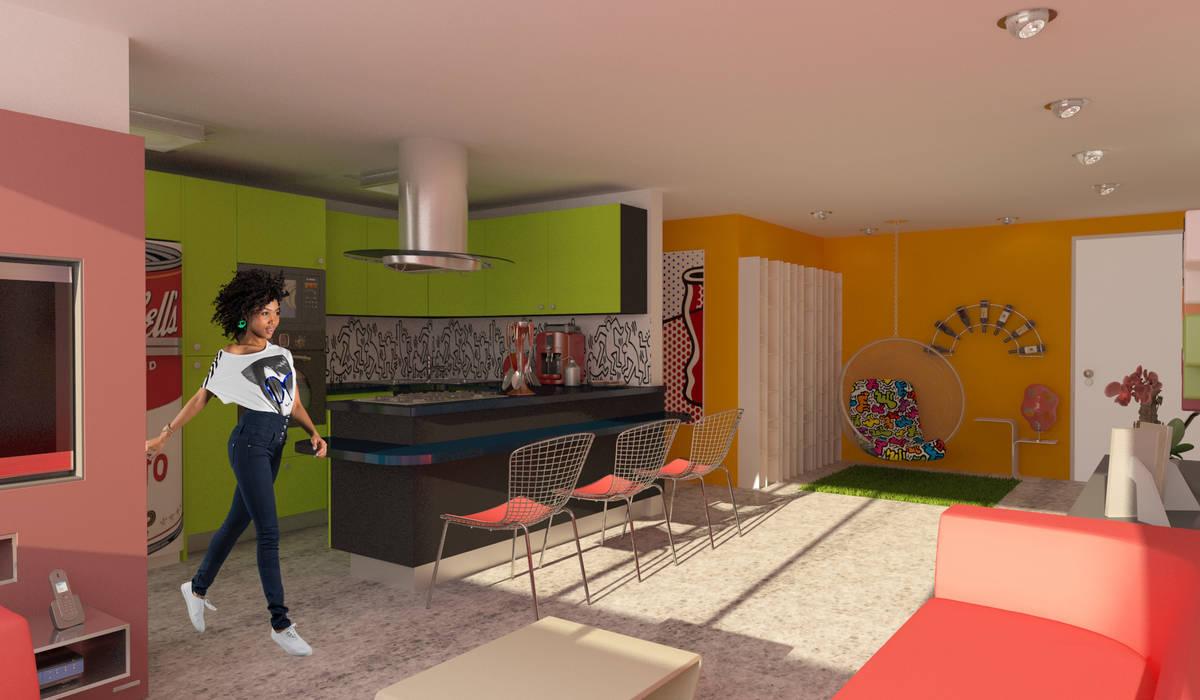 Apartamento POP Manzanares OPFA Diseños y Arquitectura Cocinas de estilo moderno