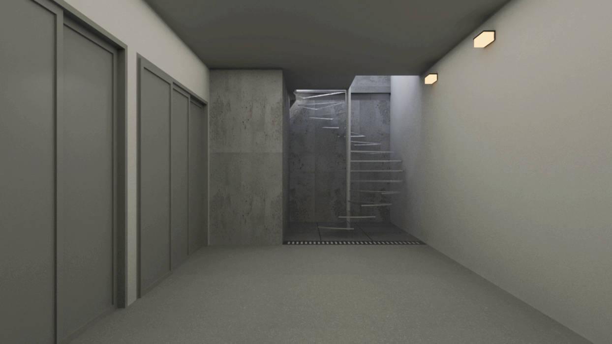 Diseño de Garage Gabriela Afonso Garajes y galpones de estilo moderno Contrachapado Gris
