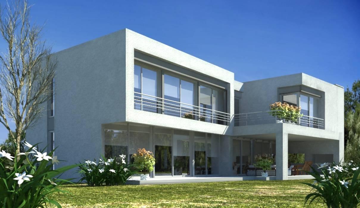 3d: Casas de estilo  por Parrado Arquitectura,Moderno