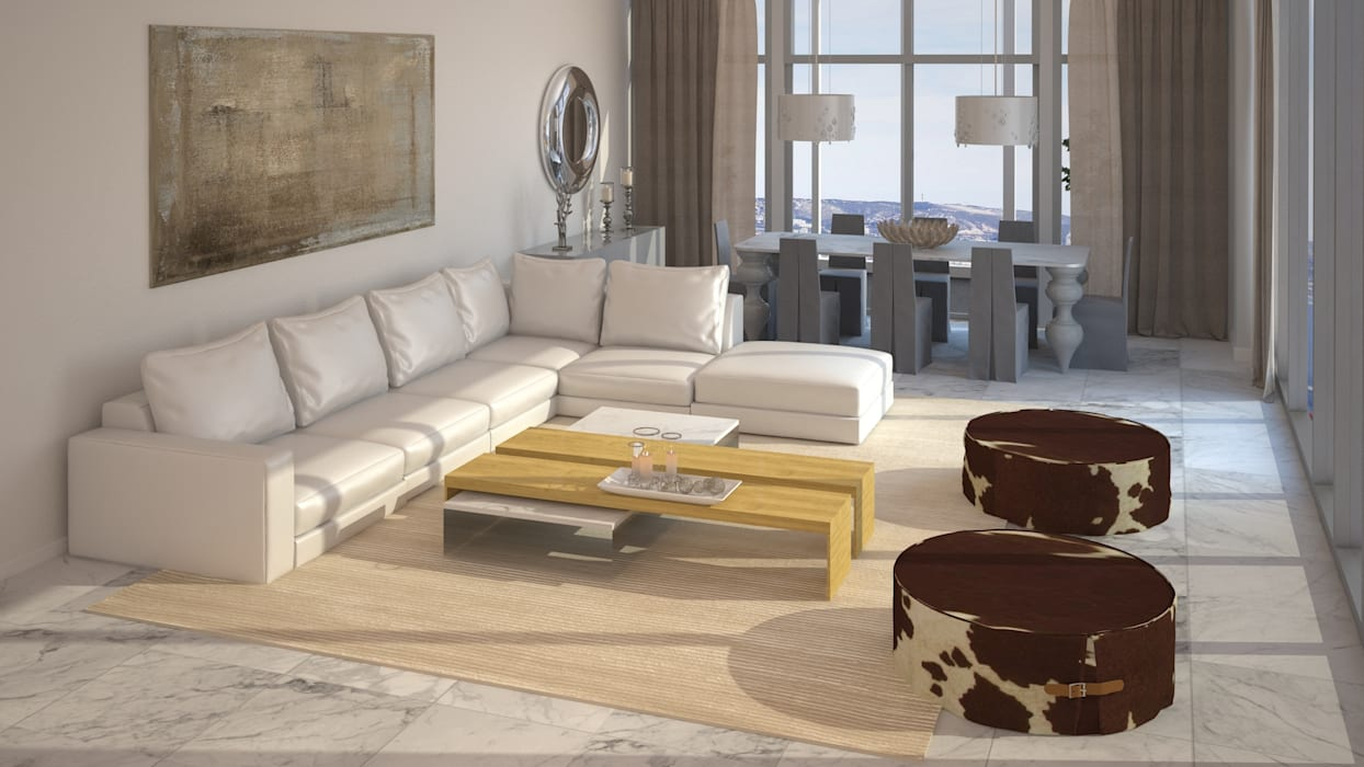 Diseño de Sala: Salas / recibidores de estilo  por Gabriela Afonso, Moderno Mármol