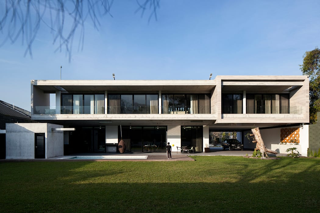 Fachada SUR Casas modernas de WRKSHP arquitectura/urbanismo Moderno Mármol
