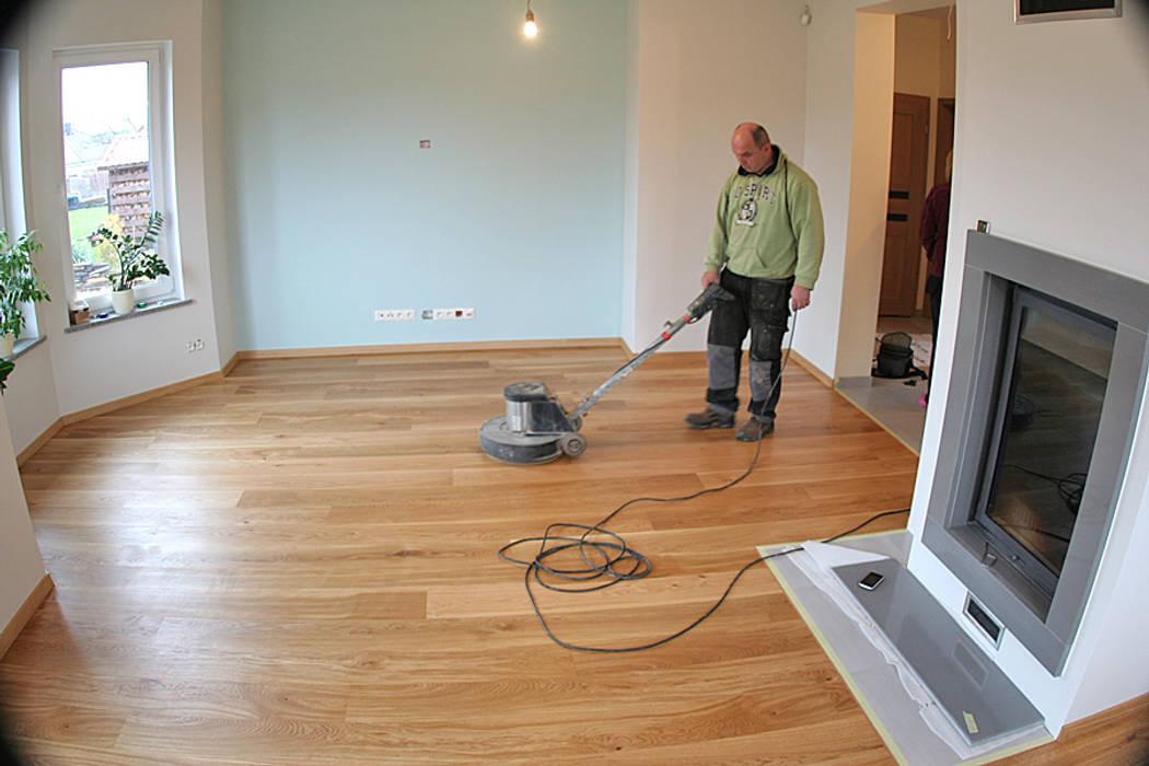 Realizacja podłogi drewnianej w Chynowie koło Zielonej Góry PHU Bortnowski