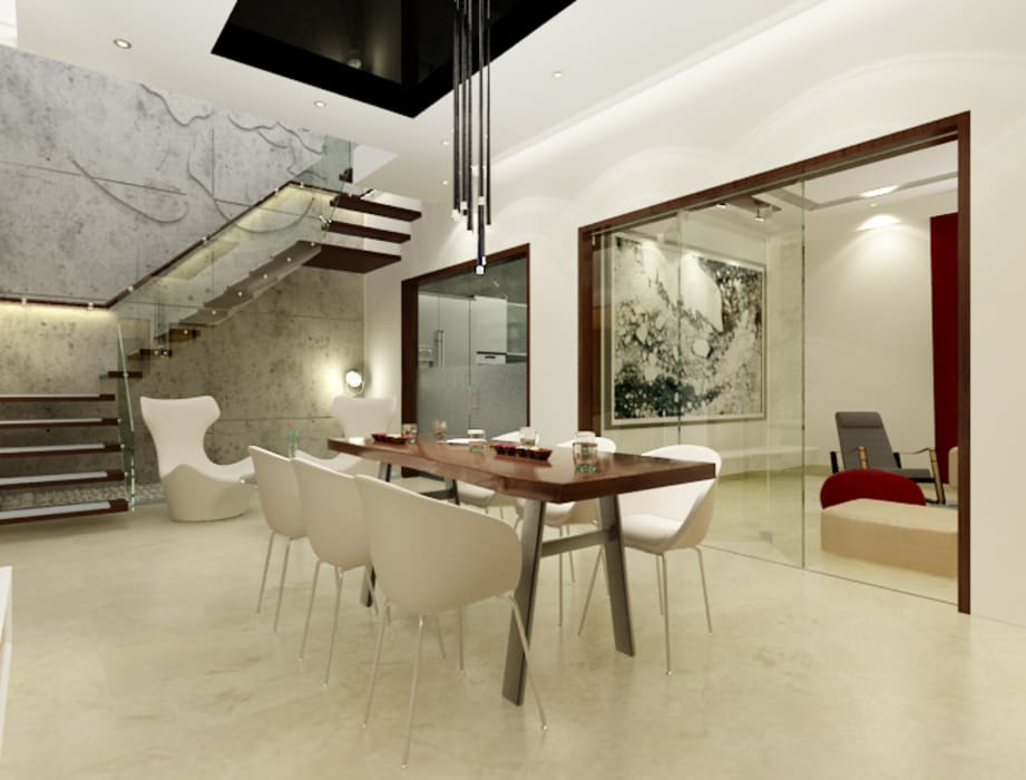 Dining room by Space Interface, Modern