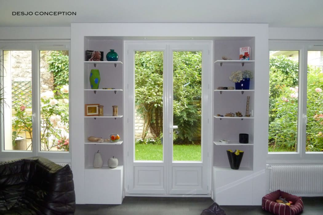La porte vers le jardin Fenêtres & Portes classiques par Desjoconception Classique