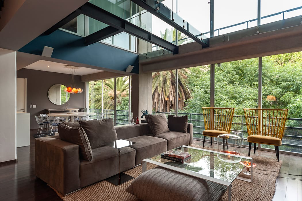 Living room by MAAD arquitectura y diseño, Eclectic