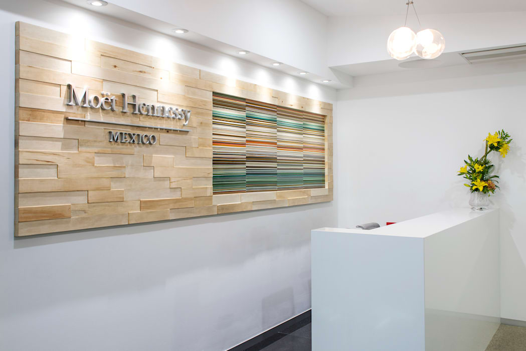 Lobby Moet Edificios de oficinas de estilo moderno de Studio Orfeo Quagliata Moderno Vidrio