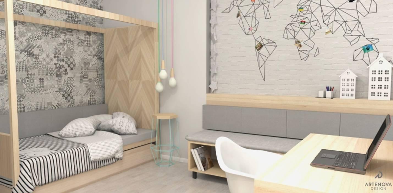 Nursery/kid's room by Artenova Design,