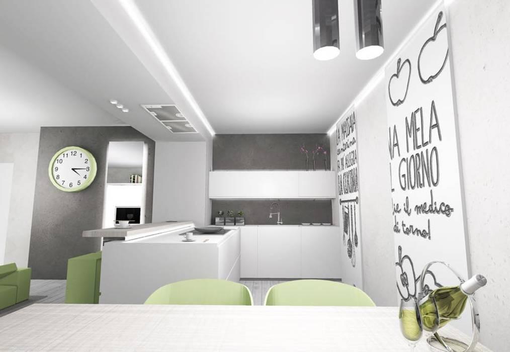 RENDER: Cucina in stile in stile Moderno di LTAB/LAB STUDIO