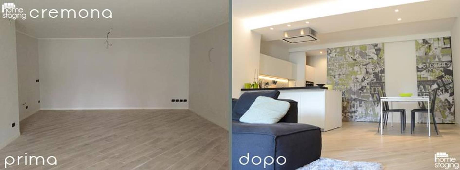 PRIMA & DOPO: Soggiorno in stile in stile Moderno di LTAB/LAB STUDIO