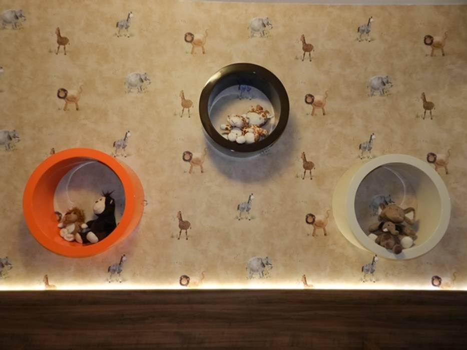 Quartinho de bebê safári: Quarto infantil  por ANE DE CONTO  arq. + interiores,Moderno