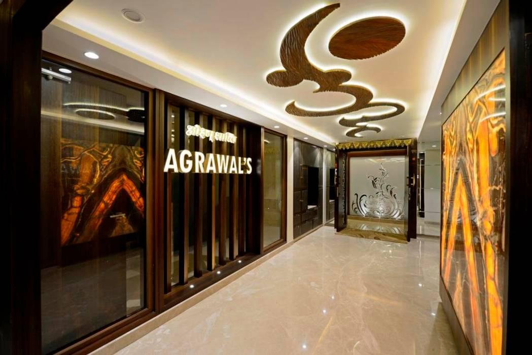 Modern corridor, hallway & stairs by AIS Designs Modern