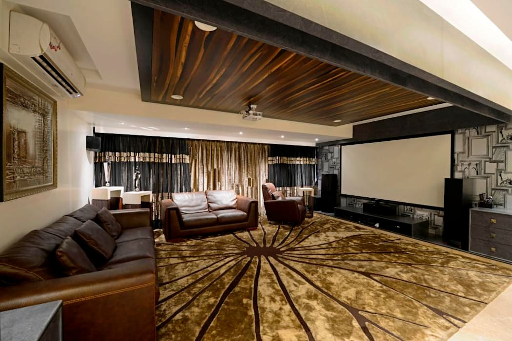 Salas de entretenimiento de estilo  por AIS Designs, Moderno