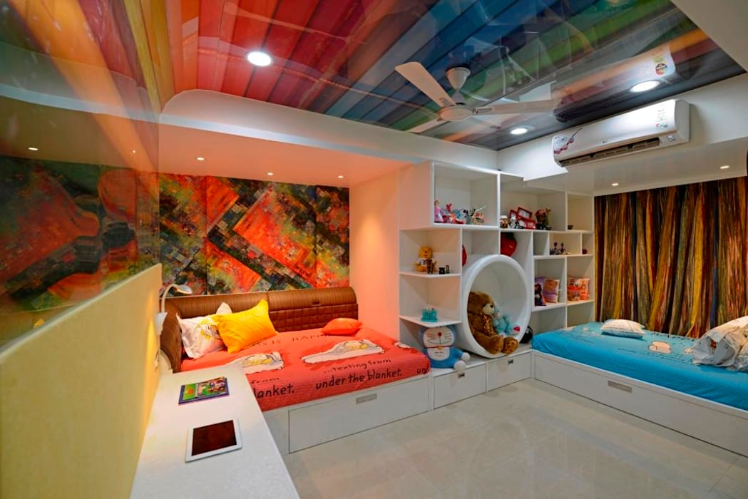 RESIDENTIAL PENTHOUSE INTERIORS:  Nursery/kid's room by AIS Designs,