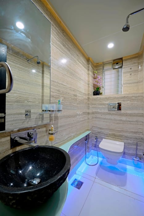 RESIDENTIAL PENTHOUSE INTERIORS:  Bathroom by AIS Designs,