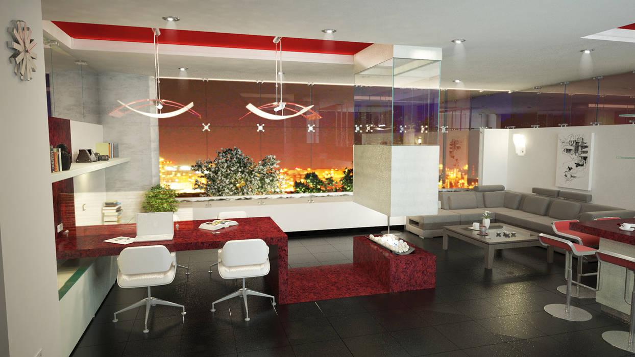 Lápiz De Sueños Modern Study Room and Home Office