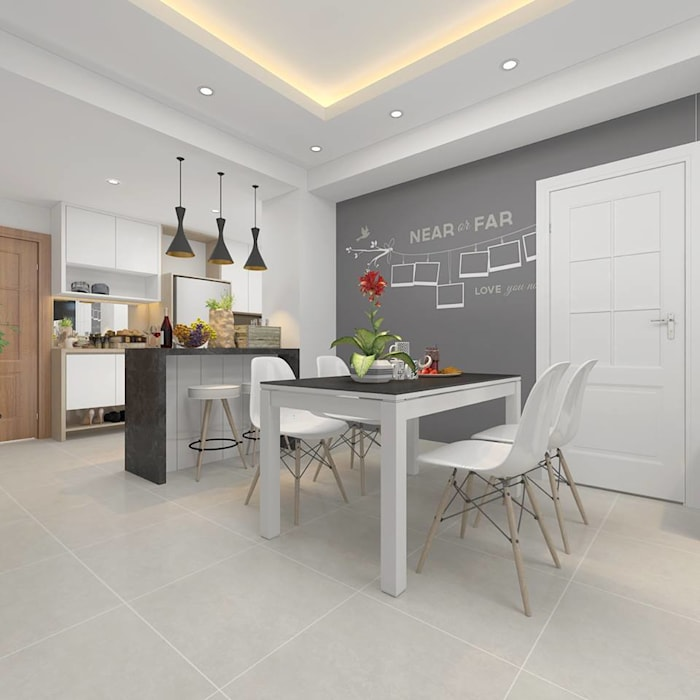 Dining room by Creazione Interiors