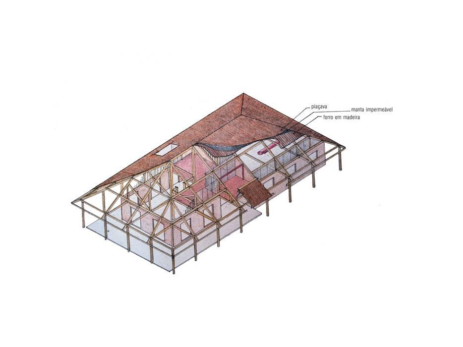 Casa Família Tenório: Paredes  por Traço Planejamento e Arquitetura,Rústico