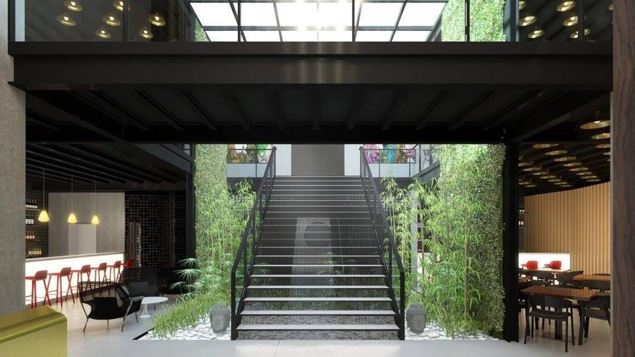 Restaurante Japão Espaços de restauração industriais por DRCF Arquitectos Industrial