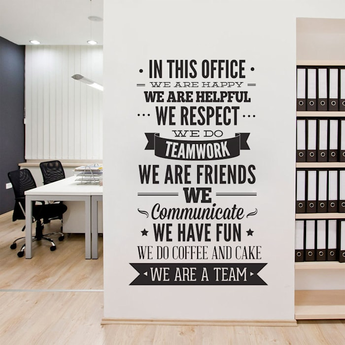 Espaces de bureaux modernes par MOONWALLSTICKERS.COM Moderne