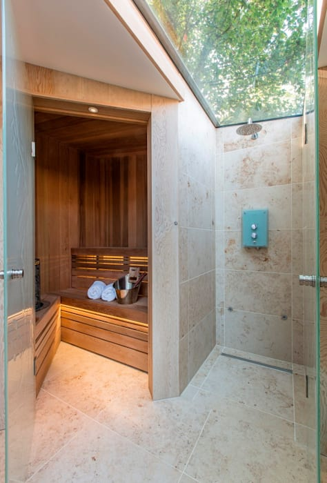 Folio Design   The Garden Room   Sauna & 'Outdoor' Shower Modern spa by Folio Design Modern