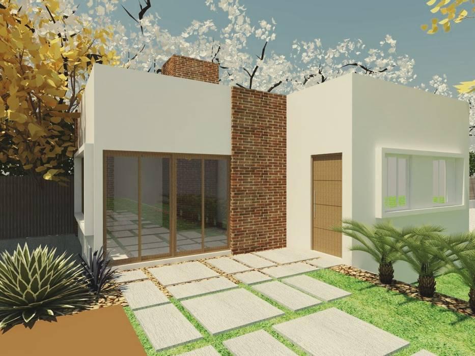 現代房屋設計點子、靈感 & 圖片 根據 homify 現代風 磚塊