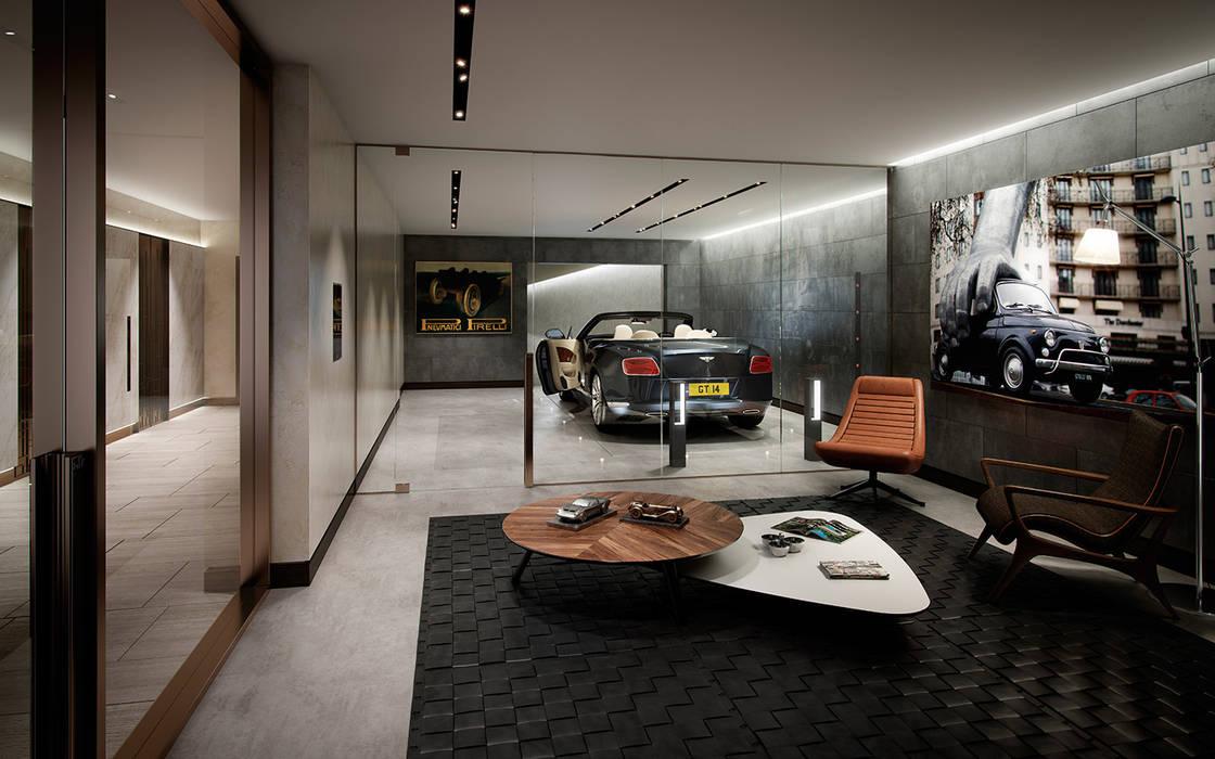 Folio Design | The Cricketers | Car Room Folio Design モダンデザインの ガレージ・物置