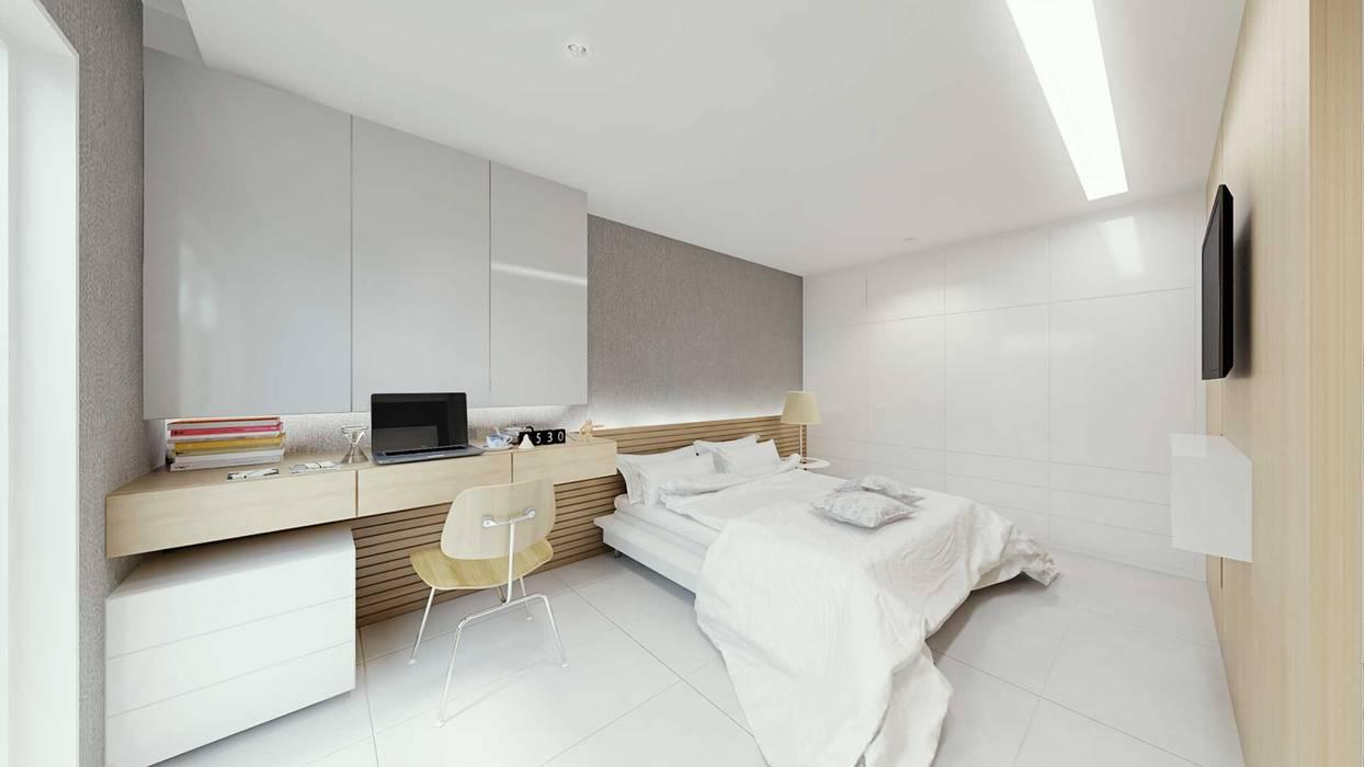 Skandinavische Schlafzimmer von fpr Studio Skandinavisch