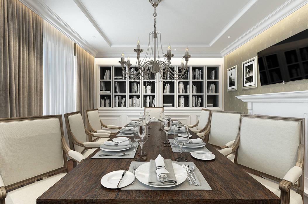 Ruang Makan oleh EVGENY BELYAEV DESIGN, Klasik