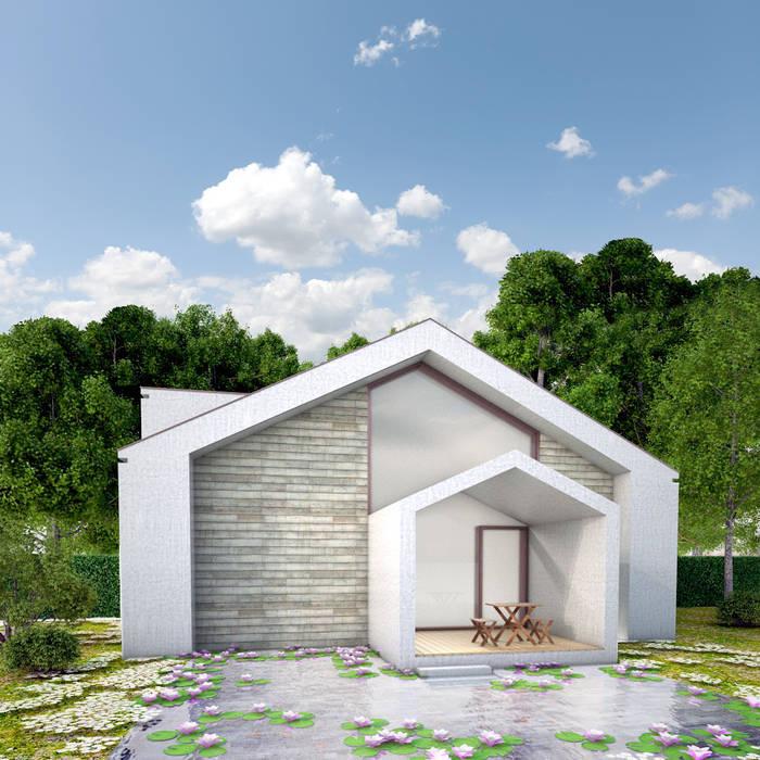 Casa sull'acqua: Case in stile in stile Moderno di architettiFAVARO