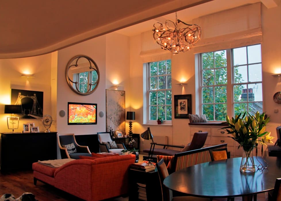 澤山乃莉子 DESIGN & ASSOCIATES LTD. Eclectic style living room