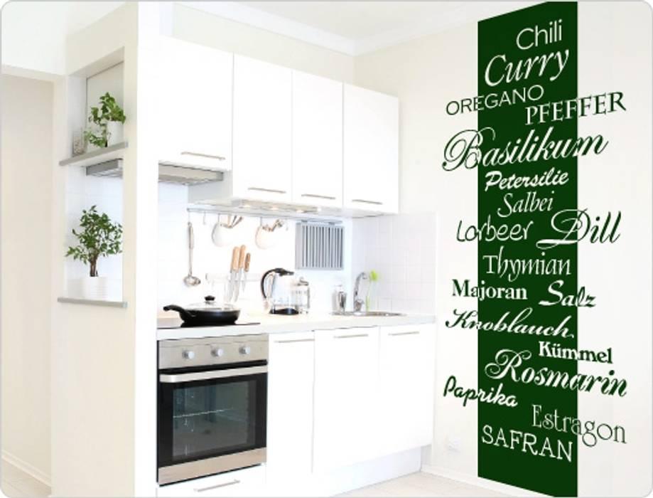 Kräuter banner: küche von i-love-wandtattoo.de | homify