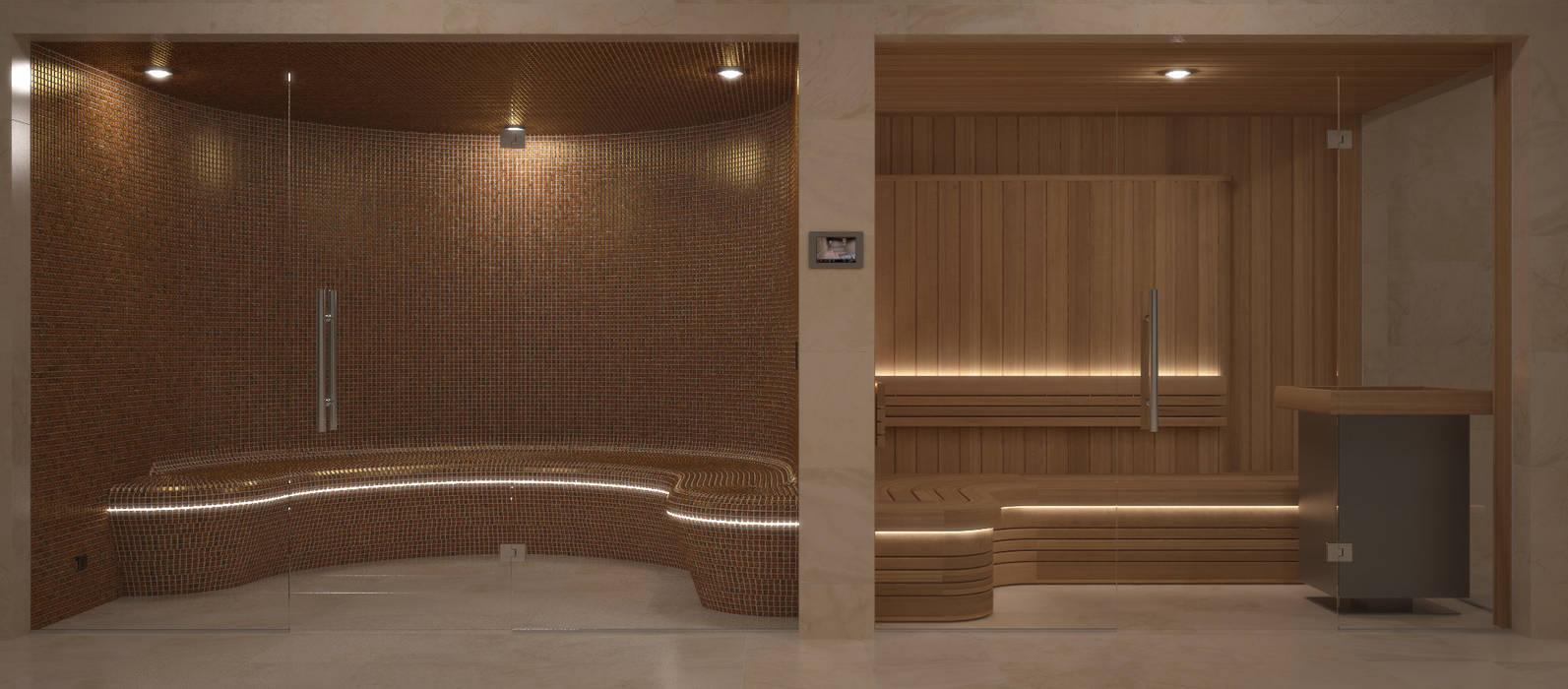 Steam and Sauna Design & Installation.:  Spa by Nordic Saunas and Steam , Modern