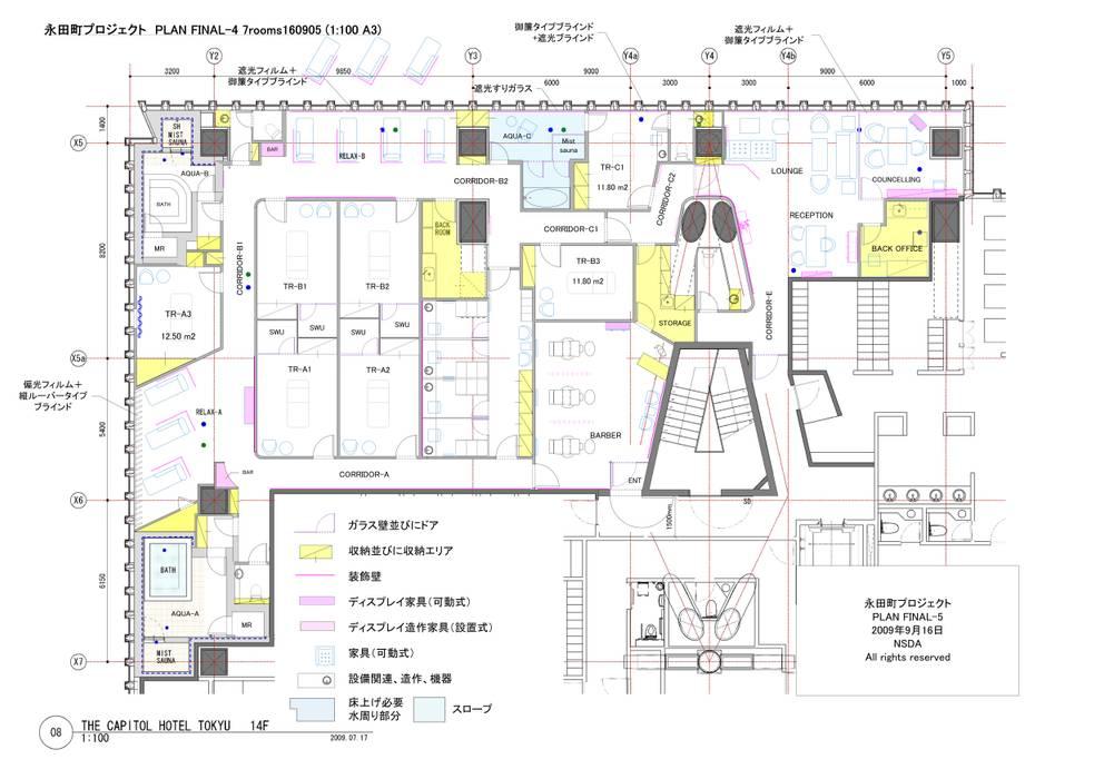 レイアウトプラン: 澤山乃莉子 DESIGN & ASSOCIATES LTD.が手掛けたです。