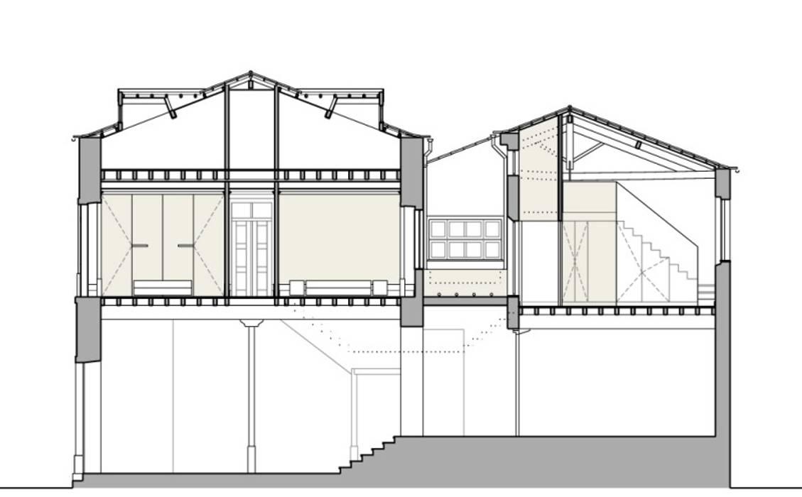 CORTE TRANSVERSAL por COLECTIVO arquitectos Minimalista
