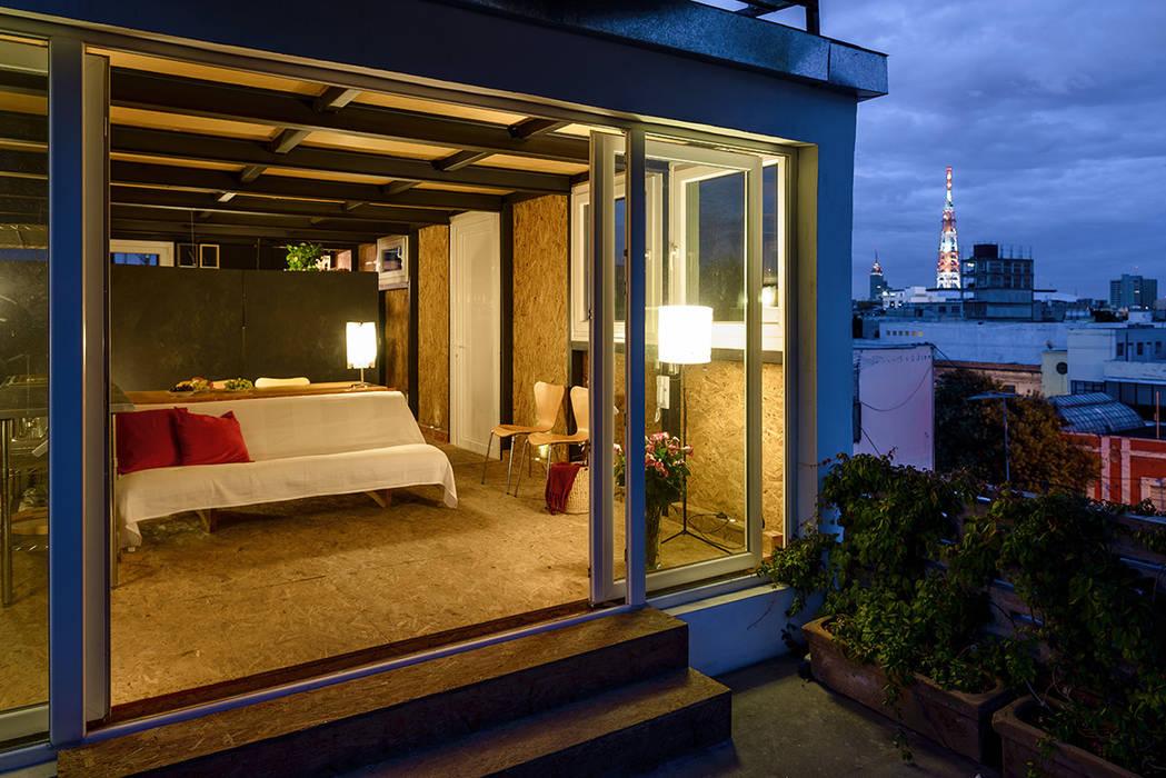 Terraza Balcones y terrazas modernos de Windlock - soluciones sustentables Moderno