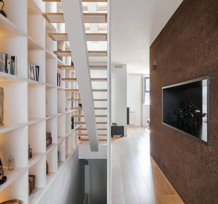 Casa Cedofeita Floret Arquitectura Salas de estar modernas
