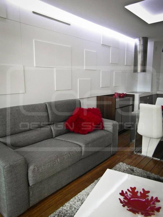 Panele Dekoracyjne 3D - Loft Design System - model Double Square od Loft Design System Nowoczesny