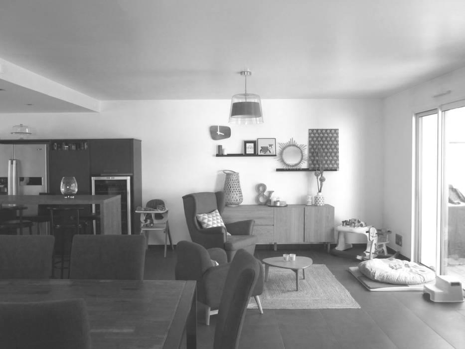 Modern Living Room by Amélie Jodeau Architecte Modern