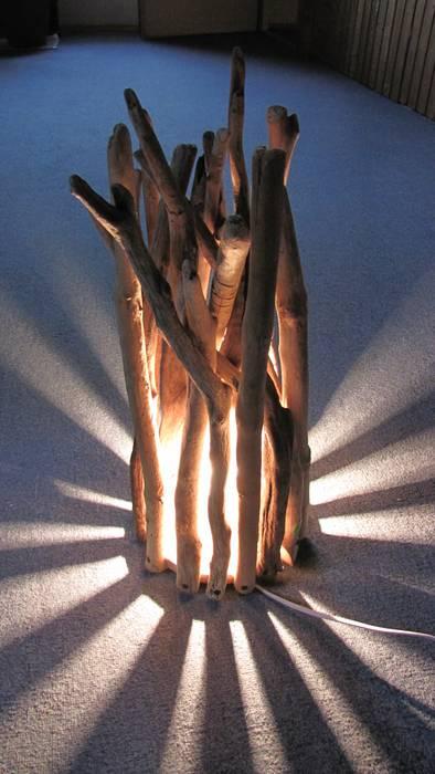 Romantisch Rustikale Lampen Aus Schwemmholz Wohnzimmer Von