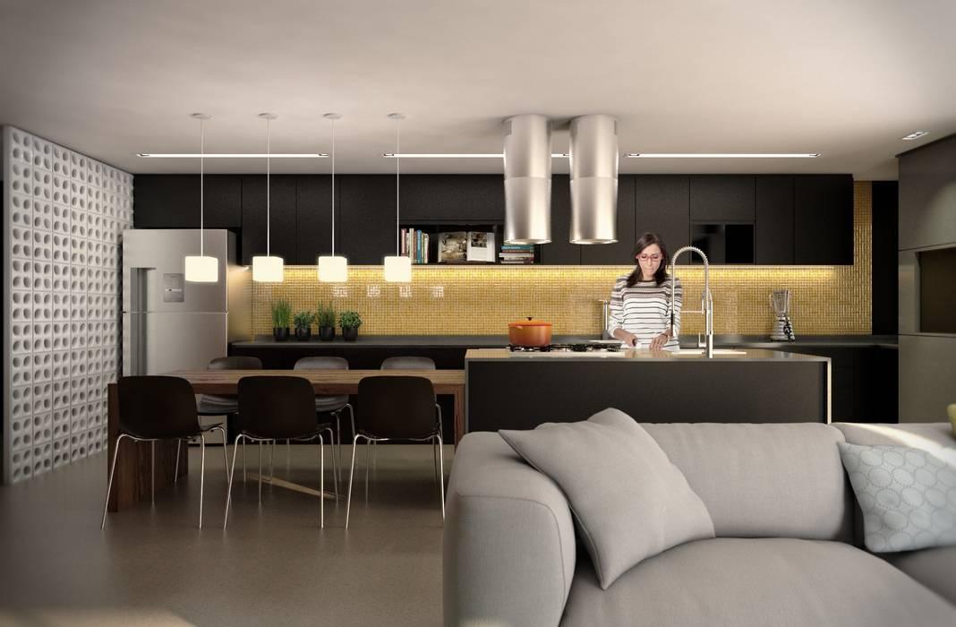 Cozinha:   por Almeida Arquitetos,