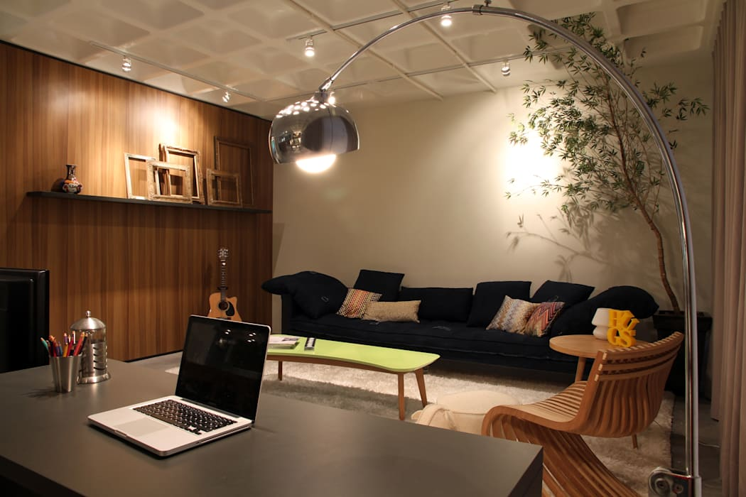 Loft Petrópolis - Porto Alegre - RS Salas de estar modernas por Mundstock Arquitetura Moderno