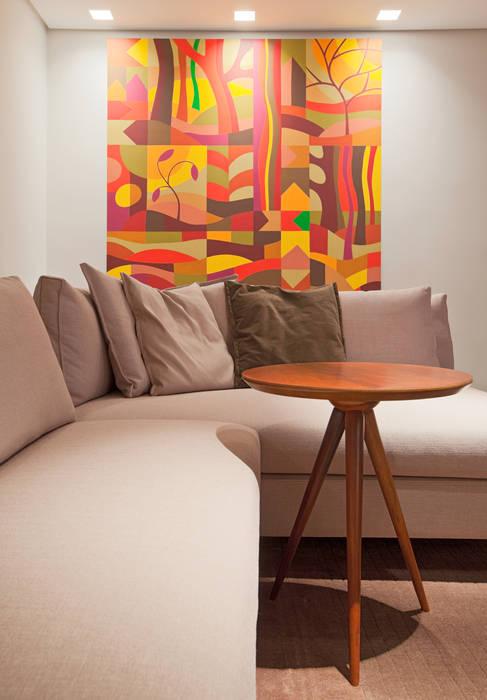 Apartamento Funcionários Salas de estar modernas por Dubal Arquitetura e Design Moderno