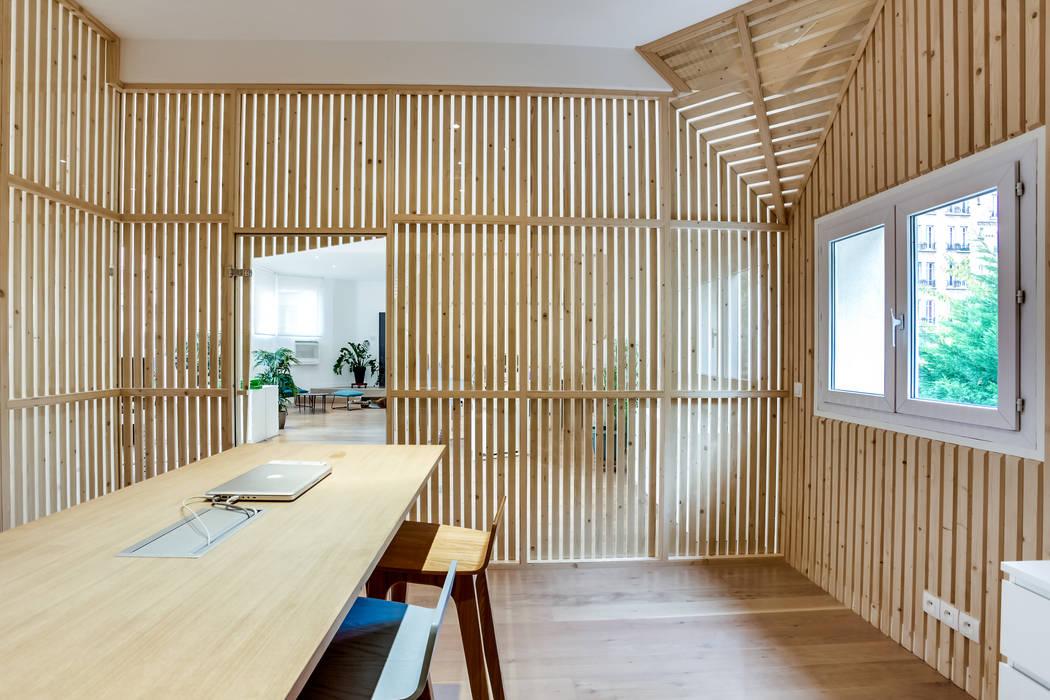 Intérieur salle de réunion, PROJET VINCENNES, Agence Transition Interior Design: Bureaux de style  par Transition Interior Design