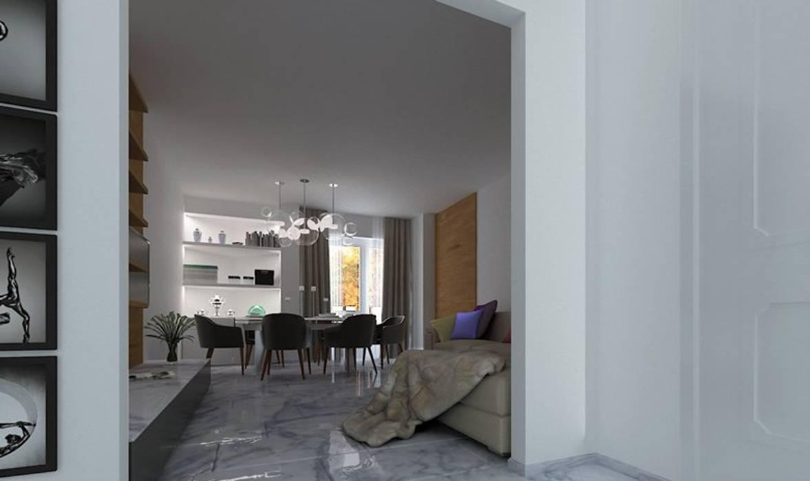 Living: Sala da pranzo in stile in stile Moderno di AG Interior Design