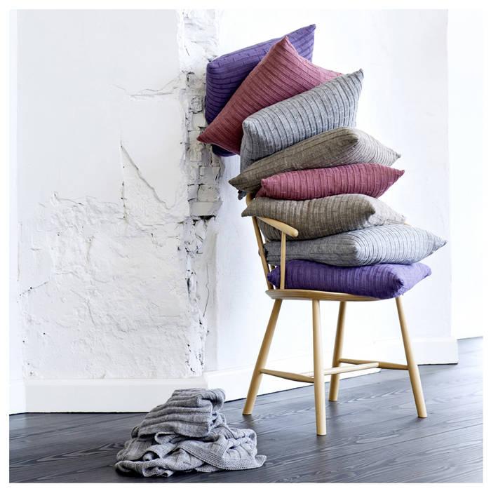 Alpaka Kissen Concrete Blocks Fiolini WohnzimmerAccessoires und Dekoration