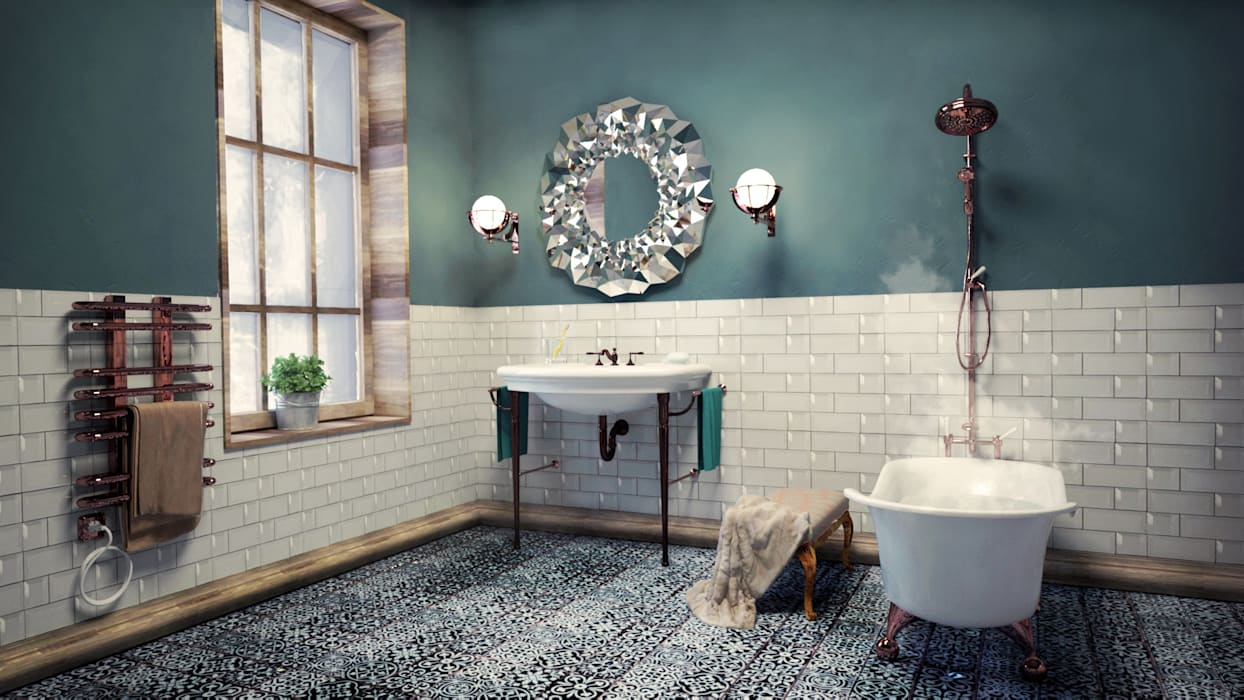 Bathroom by SIMPLE actitud, Eclectic Pottery